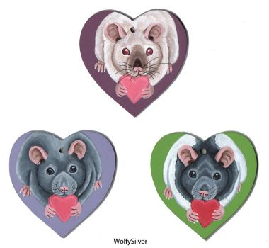 Heart Rats Valentines by wolfysilver
