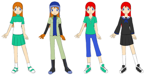 Digimon Oc : Kasumi Tanaka [redesign] by Prismblack91