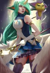 Soraka Guardian Star - League of Legends by GabrielBevacqua-Arts