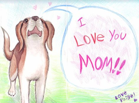 Mother's Day Beagle by ArtistsBlood