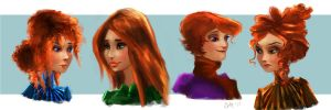 Various Redheads by carlylyn