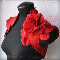 LIKE A ROSE Bolero Shrug by TianaChe