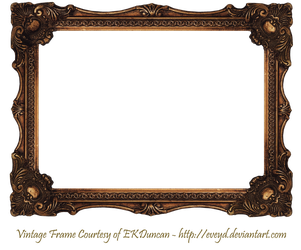 Elaborate Wood Scroll Frame by EKDuncan by EveyD
