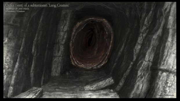 The tunnel orifice by Cloister