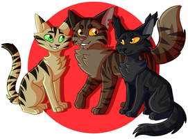 Tigerclaw and friends by Coyotiii