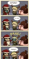 Reek the red nosed Reindeer by Thrumugnyr