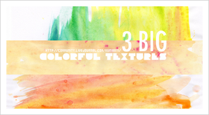 3 large colorful textures by schokotorte