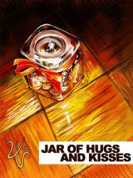 Jar of Hugs and Kisses by vevew