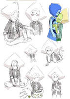 SOME PERIDOT WITH HER SHIRT SKETCHES by Stick2mate