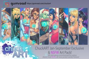 Jan-Sep Patreon exclusive and NSFW art pack! by ChuckARTT