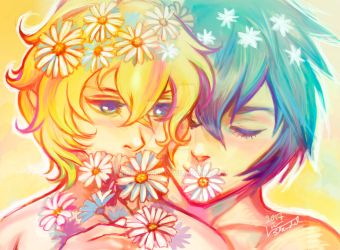 Daisies by Linnpuzzle