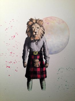 Lion in a Kilt by LordColinOneal