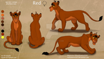 Red Complex Ref Sheet - Commission by Nala15