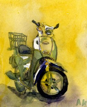 Vespa in Watercolor by CannibalisticCacti