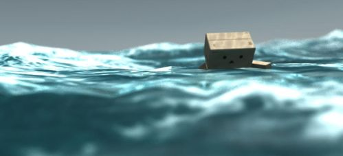 Danbo stuck in the sea 2 by goutham9986