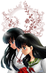 Kagome and Kikyou by Lin-elle