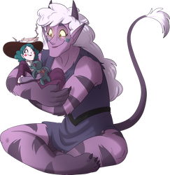 The daughter carrying the mother PNG by NamyGaga