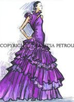 Purple evening dress by fanitsafantasy