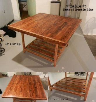 Table #3: Rustic Pine by Sathiest-Emperor