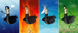 Four-elements Naga Adopts *Closed by RoseandherThorns
