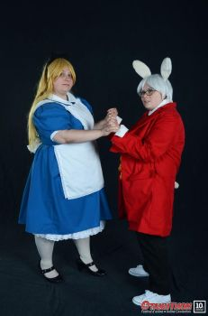 Cosplay - Alice and White Rabbit by melodyselenee