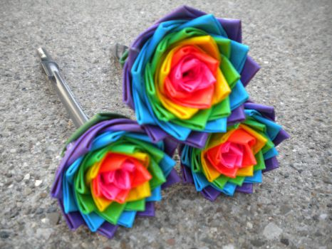 3 Duct Tape Flowers by SharpieObsessed