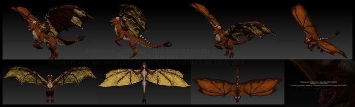 Female Romanian Three-Tail: ZBrush model by LeccathuFurvicael