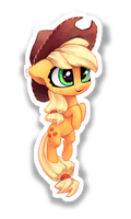 Chibi AppleJack sticker by INowISeeI