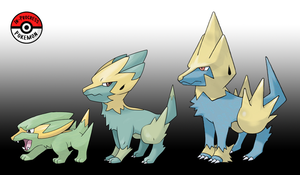 309 - 310 Electrike Line by InProgressPokemon
