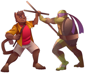 Sparring with Donatello By Shellsweet by cabcat