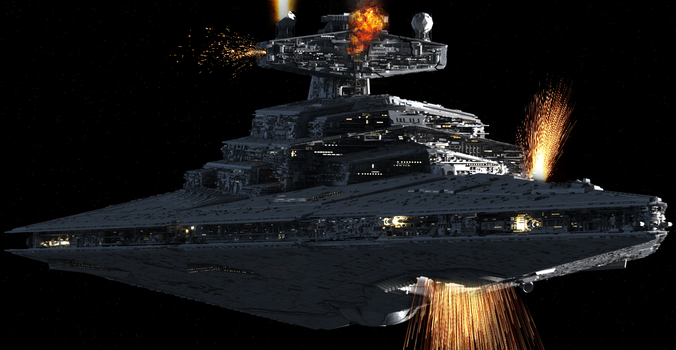Christmas Star Destroyer Explosion by Engine97