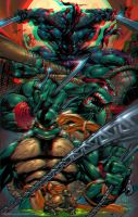 TMNT by Joe Madureira 3D Anaglyph by xmancyclops