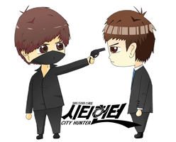 City Hunter Chibis by corrosiwatt