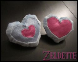 Mini Heart Piece/Container Plush by Maz-Zeldette