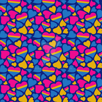 Pansexual Pride Hearts Pattern by PrideMarks