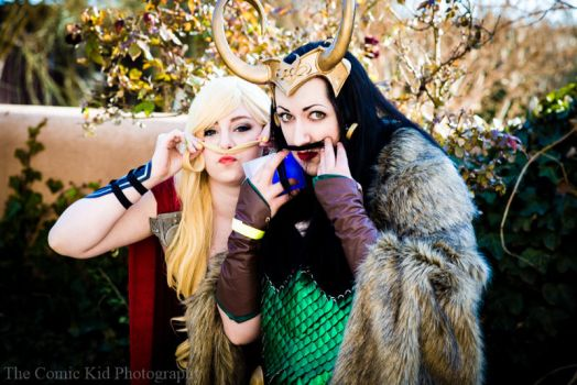 Lady Thor: Mustaches by cheese-cake-panda