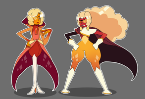[CLOSED] Hessonite Adopt Duo by PersonificationMaker