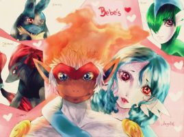 Mis bebes pokemon by KaroeGoddess