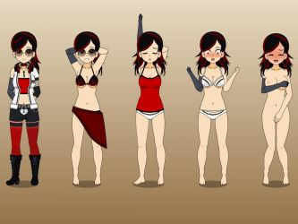 Lannie's outfits by TheReaperProject