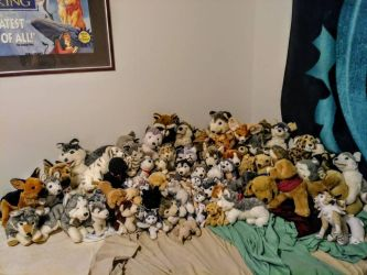 My entire Plush Collection (Old Habits Die Hard.) by Gerundive