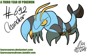 A third year of pokemon: #692 Clauncher