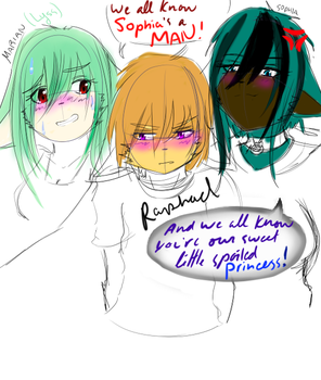 Saving: Miriame's children .:triplet:. SKETCH by imperfect-ion