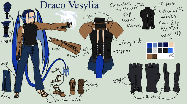 Draco Vesylia - 'Hero' or work outfit by Aisuryuu
