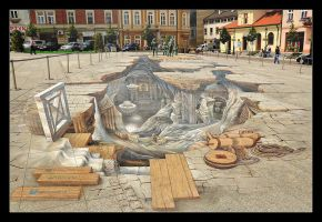 Magica In Sun, 3D Paiting On The Market Square by skarzynscy