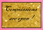Commissions Open stamp by Itsmebianka