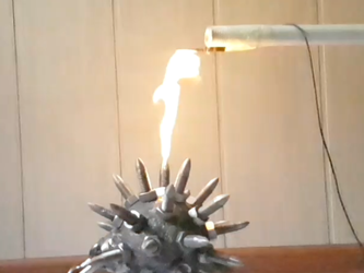 Spiked ball breathes fire! (No.1) by Sarinov