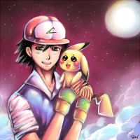 Ash and Pikachu: Bro Love by Sukesha-Ray