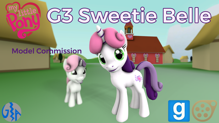 Sweetie Belle (MLP G3 SFM/GMod DL) Commission by GameAct3