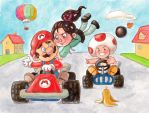 Vanellope meets Mario Kart by Gigei
