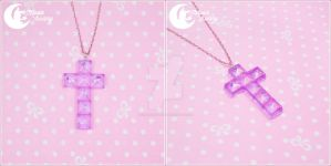 Dreamy cross Necklace by CuteMoonbunny